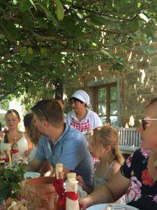 Mittagessen in der Fattoria La Vialla in der Toskana