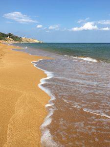 Der rote Strand Le Canella bei Isola di Capo Rizzuto Calabria Kalabrien