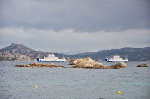 Die Fähren von Palau nach La Maddalena auf Sardegna Sardinien