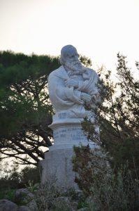 Die Garibaldi Büste im Museo Compendiio Garibaldino di Caprera auf Sardegna Sardinien