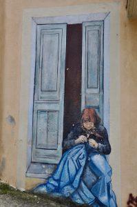 Wandmalerei in Orgosolo auf Sardegna Sardinien