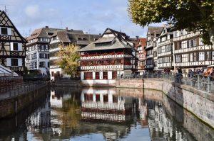 Fachwerkhäuser in Petit France in Straßburg