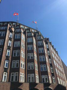 Der Montanhof im Backsteinexpressionismus in Hamburg