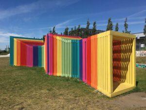 Kunst im Uferpark am Reiherstieg in Wilhelmsburg